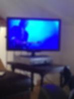 smart tv op de vide in ons vakantiehuis in de lot