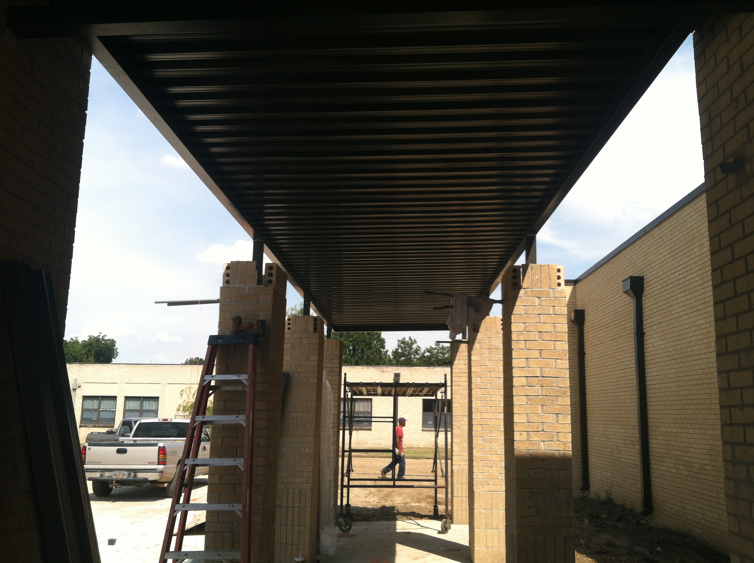 Roll Form Walkway Canopy Greenwood MS (16)