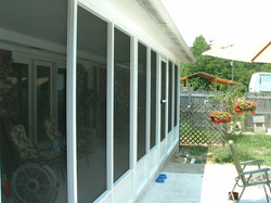 Screenroom White Two Doors Existing Roof Front Wall