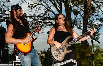 Tony Madden and Amberle Madden performing at the Niagara Tap in Largo, FL at their Tapfest 3 in 2019! Photo by James Jr. Swenson