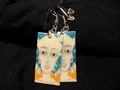 Pyramid Head Earrings