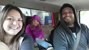 Tony, Amberle and Rogan on the road down to Florida
