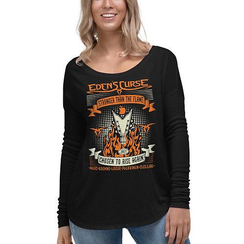 Stronger  - Ladies Flowy Long Sleeve Shirt