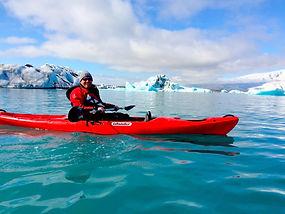 Kayaking Jokulsarlon