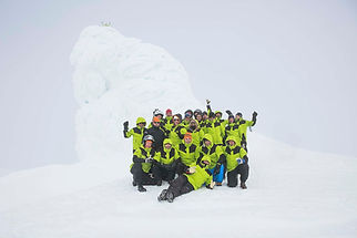 On of our groups at top of Eyjafjallajökull