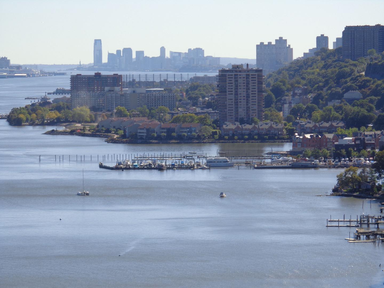 Southward View of Hudson Waterfront from George Washington Bridge