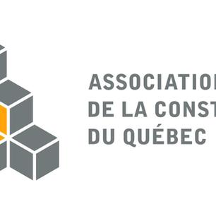 L'ACQ – Québec reconnue meilleure association canadienne en construction pour l'année 2019