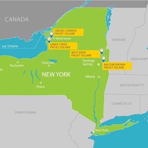 Quatre projets solaires de Boralex retenus lors d'un appel d'offres dans l'État de New York.