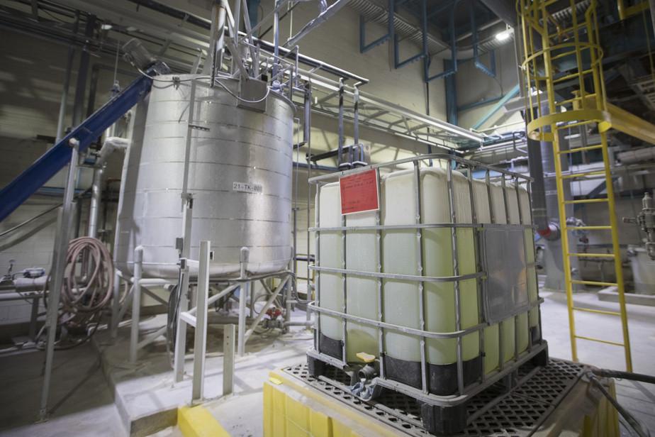Une usine de Nemaska Lithium à Shawinigan.