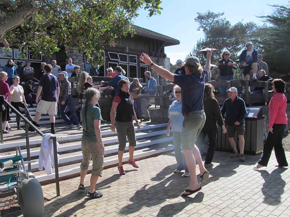 Dancing the Petronella at Asilomar