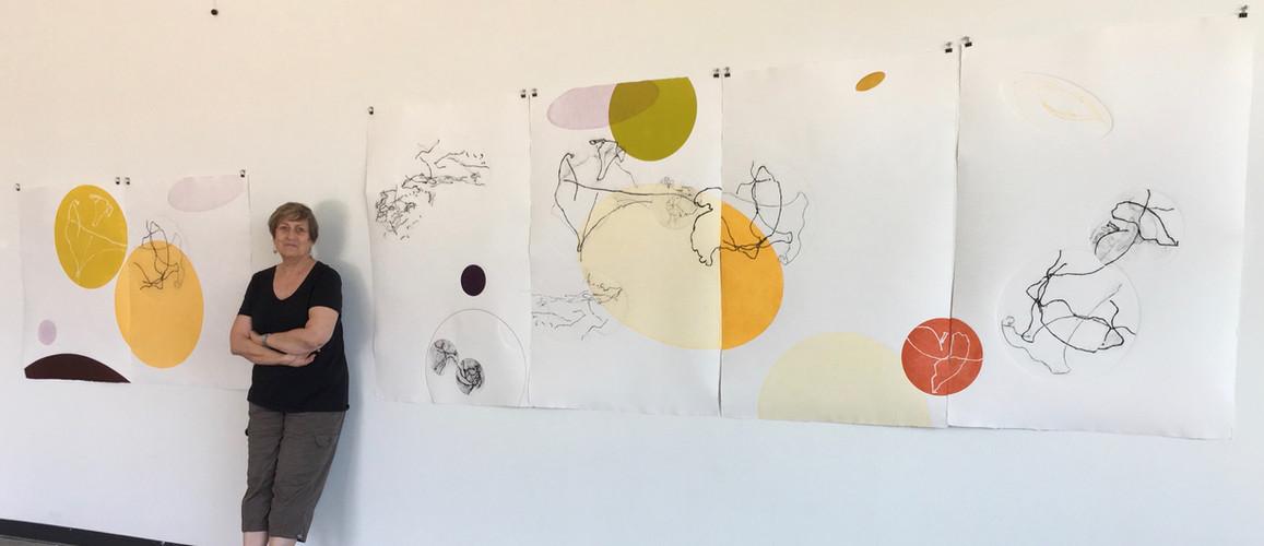 Studio installation with Artist
