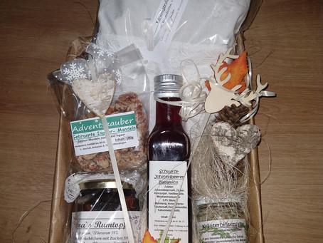 Dieses schöne Geburtstagsgeschenk samt Kräuterkissen macht sich jetzt auf den Postweg!