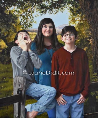 Gavin, Zoe and Carlos