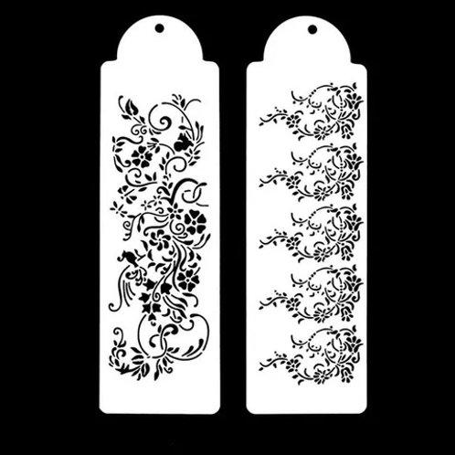 Floral Stencil Set - 2 pc