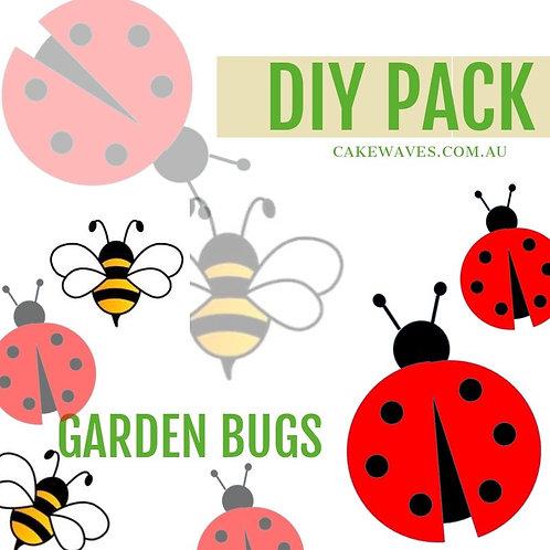 DIY Cupcake Activity Pack - Garden Bugs