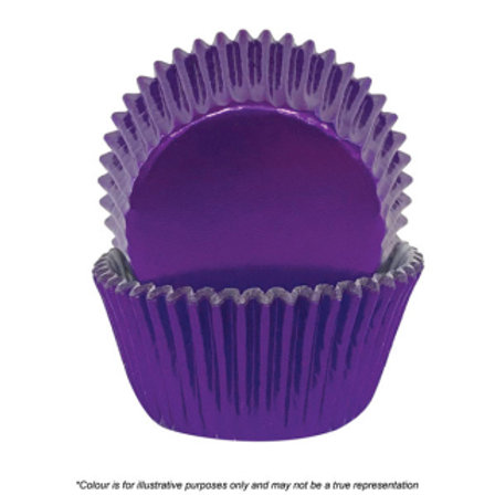 Foil Cupcake Cases / Baking Cups 72pc - Purple