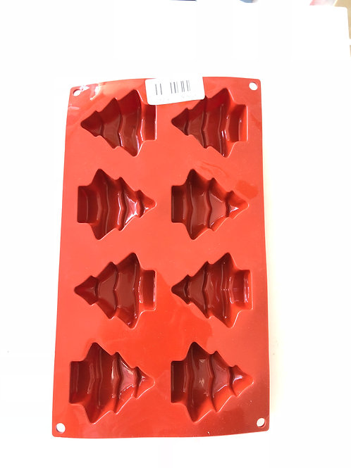 Multi cavity Christmas Tree Silicone mould  or bakeware