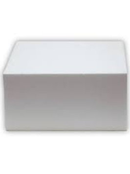 Square Cake Dummy 7 inch -  4 inch Height