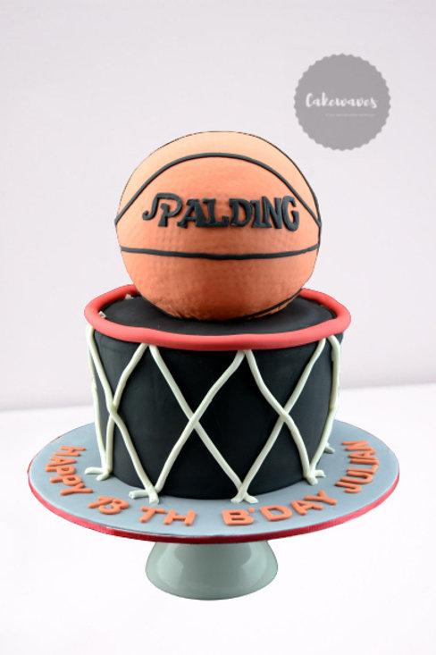 Basket Ball Birthday Cake
