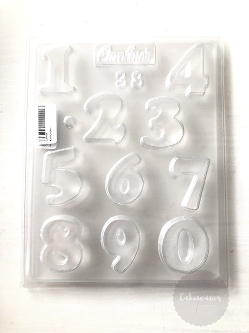 Numbers 10 Cavity Chocolate Mould