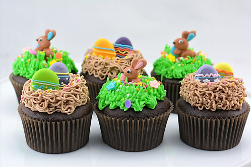 Easter Bunny And Egg - 12 Standard Size Cupcakes