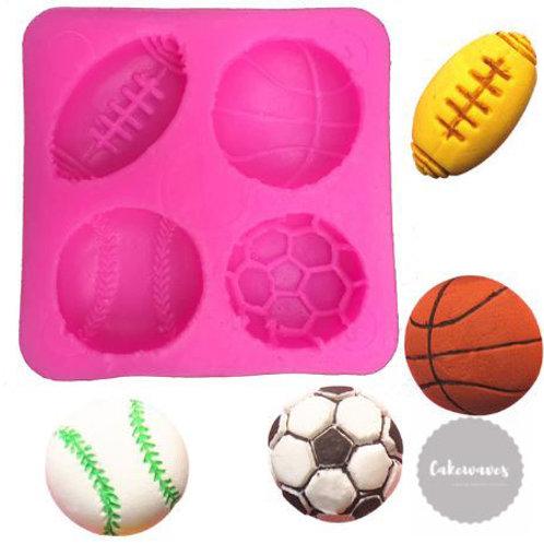 Sports Balls Multi Cavity Silicone Mould