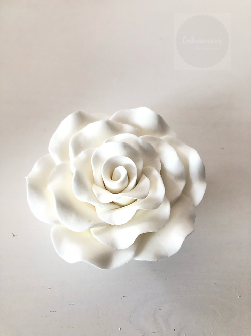 Edible Rose - White 7cm