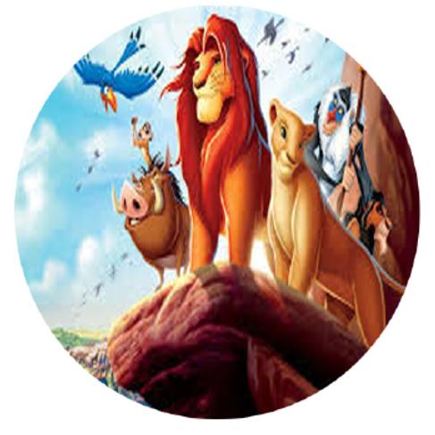 Lion King Edible Image Style1- Round