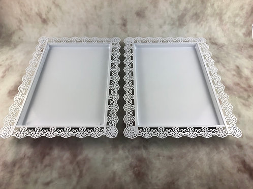 White Cake Trays