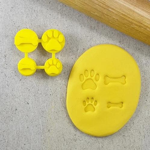 Dog Bone and Paw Cookie/ Fondant Embosser