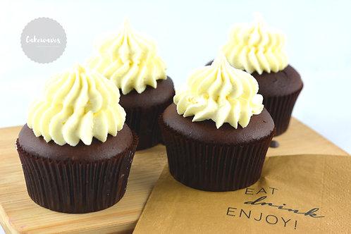 Chocolate Vanilla - 12 Standard Size Cupcakes