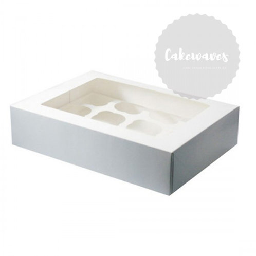 12 Holds White Mini Cupcake Box With Inserts
