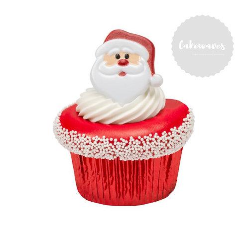 Santa Face Cupcake Rings