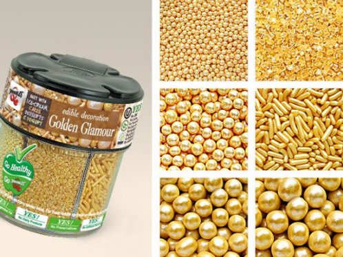 Quality Sprinkles 6 in 1 Mixed Jar - Gold 72g
