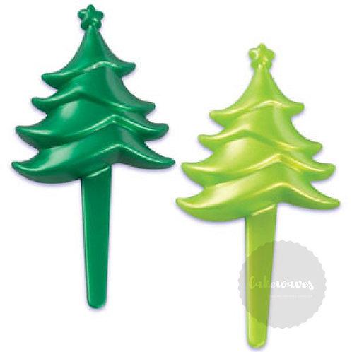 Christmas Tree Cupcake Picks
