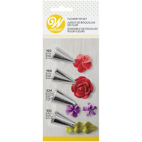 Buttercream Flower Icing Tip Set 4pc - Wilton