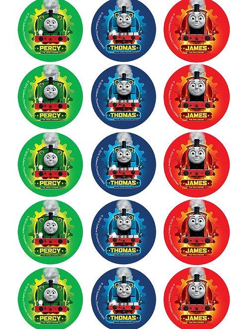 Thomas The Tank Edible Image - Cupcake cirles 2 inch