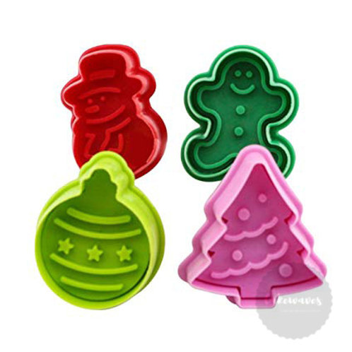 Christmas Plunger Cutter 4pc