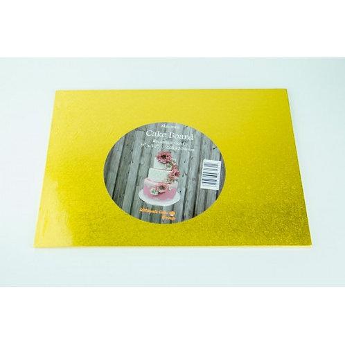 Masonite Square Gold Cake Board - 8 inch
