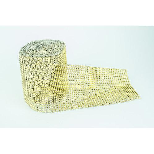 Gold Diamante Rhinestone Wrap 12cm x 1m