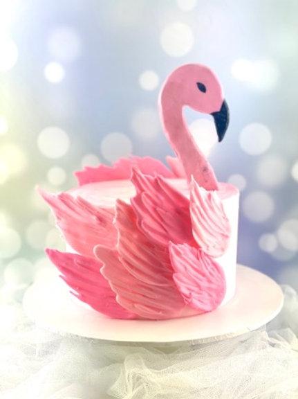 Flamingo Buttercream Cake
