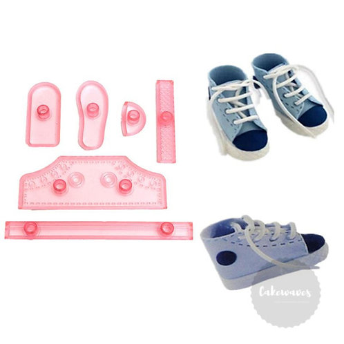 Baby / Toddler Shoe Fondant Cutter 6pc