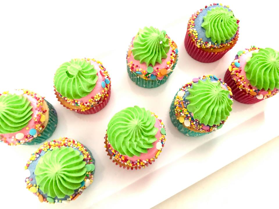 Colourful Sprinkle Cupcakes