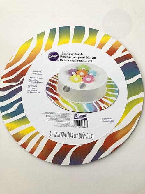 Wilton Rainbow Zebra Cake Board - 12 inch