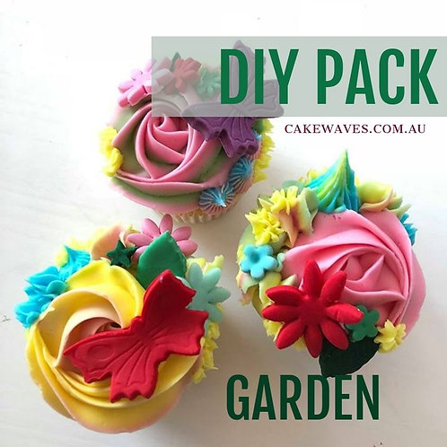 DIY Cupcake Activity Pack - Garden