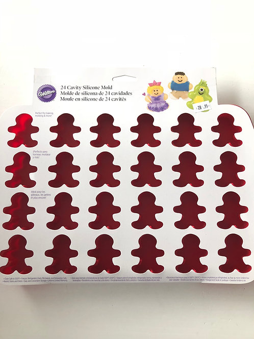 Ginger bread man silicone mould bakeware - 24 cavity
