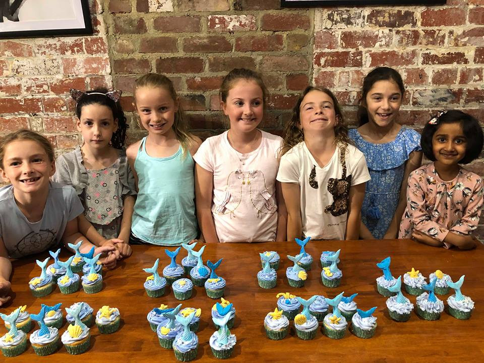 Kids Mermaid Cupcake Class