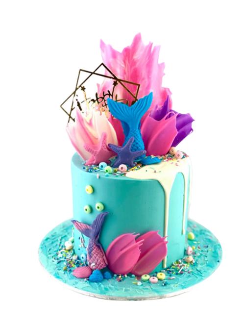 Mermaid Family Sized Birthday Cake
