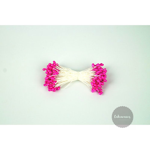 Pearl 3 mm Hot Pink Flower Stamens