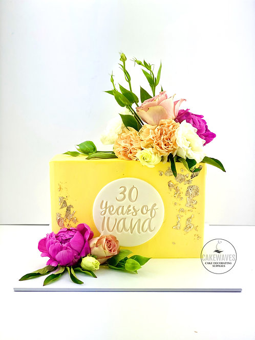 Floral Brick Birthday Cake